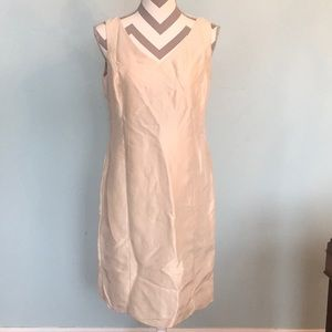 Ann Taylor Beige Midi Dress